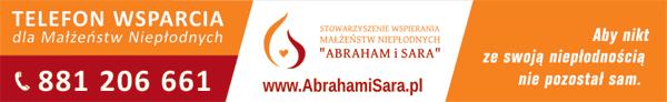 baner Stowarzyszenia Niepłodnych Małżeństw Abraham i Sara